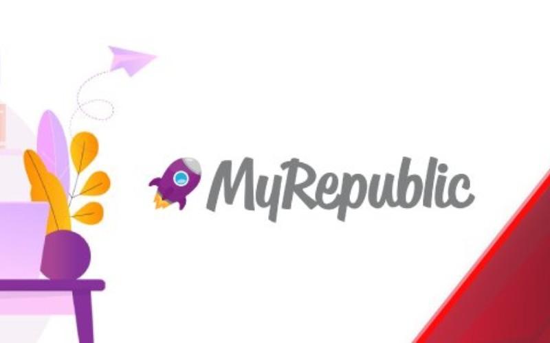Logo MyRepublic, jenama bisnis Multimedia Grup Sinar Mas lewat entitas uPT Innovate Mas Indonesia and PT Eka Mas Republik. - dssa.co.id