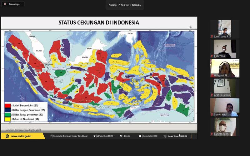 Peta cekungan potensi Migas di Indonesia. - Ist