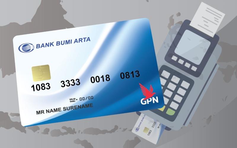 Ilustrasi kartu pembayaran berlogo GPN terbitan PT Bank Bumi Arta Tbk. - www.bankbba.co.id