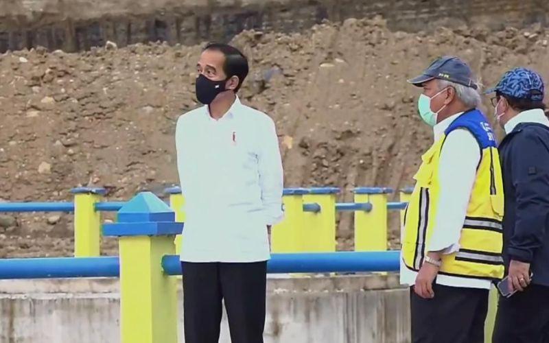 Presiden Joko Widodo didampingi Menteri Pekerjaan Umum dan Perumahan Rakyat (PUPR) meresmikan Bendungan Napun Gete di Kabupaten Sikka, Nusa Tenggara Timur, Selasa 23 Februari 2021 / Youtube Sekretariat Presiden