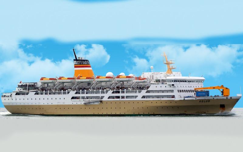 Ilustrasi kapal KM Kelud. Pelni