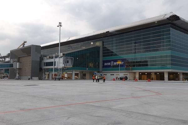Proses pengerjaan Bandara New Yogyakarta International Airport di Kulon Progo, DIY, Rabu (24/4 - 2019).