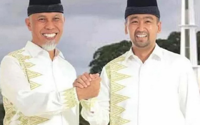 Gubernur dan Wakil Gubernur Sumbar terpilih, Mahyeldi-Audy Joinaldi. - Antara\r\n