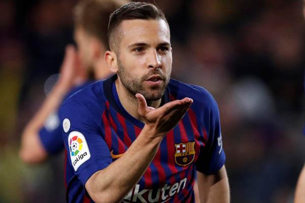 Bek FC Barcelona Jordi Alba - Reuters/Albert Gea