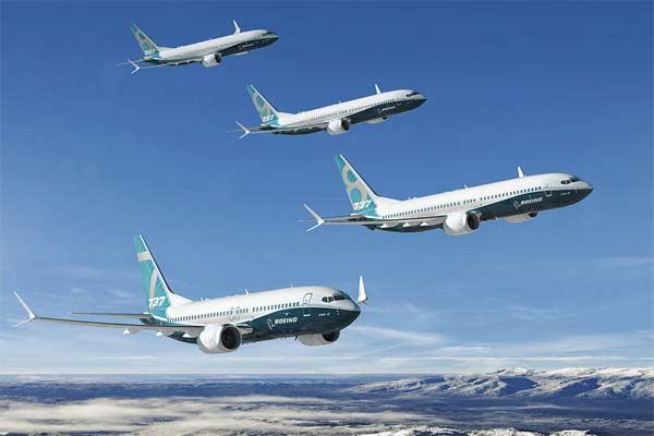 Ilustrasi. Boeing 737 MAX yang merupakan pesawat buatan Boeing yang paling banyak diminati.  - Boeing