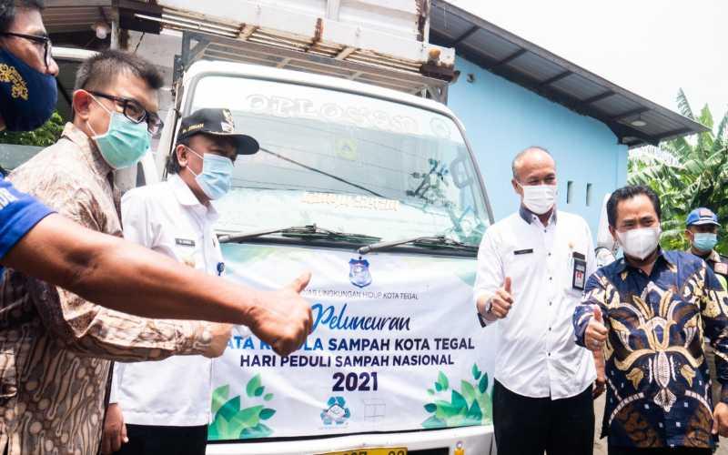 Pemerintah Kota Tegal meresmikan pusat daur ulang sampah yang berlokasi di Kelurahan Mintaragen pada Peringatan Hari Peduli Sampah, Rabu (24/2/2021). - Istimewa