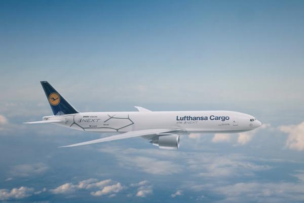 Ilustrasi. Boeing 777F dari armada Lufthansa Cargo.  - BMW