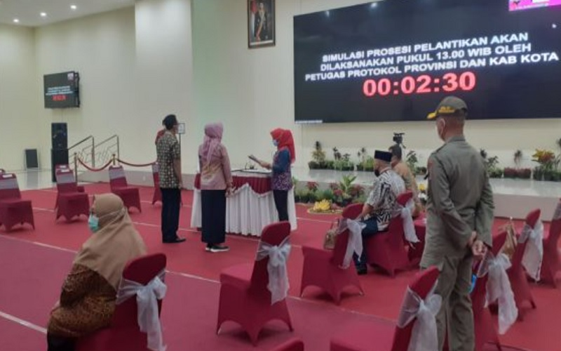 Suasana geladi bersih pelantikan Bupati-Wakil Sukoharjo di lantai X Gedung Menara Wijaya, Kamis (25/2/2021). JIBI - Solopos/Bony Eko Wicaksono