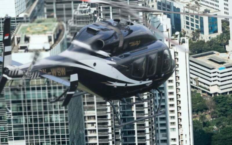 Layanan penerbangan helikopter Helicity yang disediakan oleh PT Whitesky Aviation. (http://www.whitesky.co.id - )