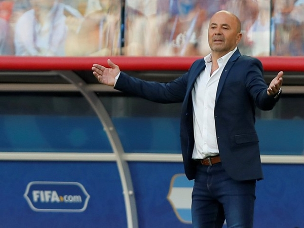 Jorge Sampaoli ketika menangani Timnas Argentina di Piala Dunia 2018 di Rusia. - Reuters