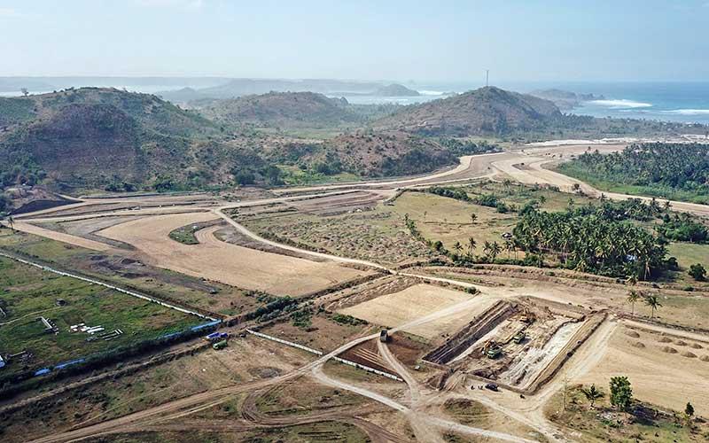 Ilustrasi - Foto udara pembangunan