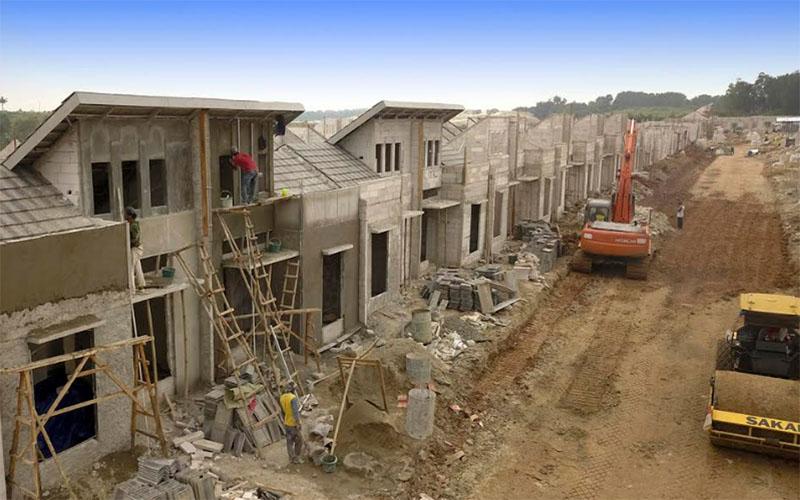 Ilustrasi pembangunan perumahan tapak untuk kelas menengah. - Istimewa