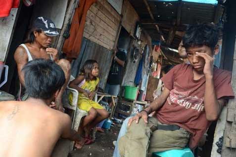Ilustrasi warga miskin di salah satu kawasan di Jakarta  -  Istimewa