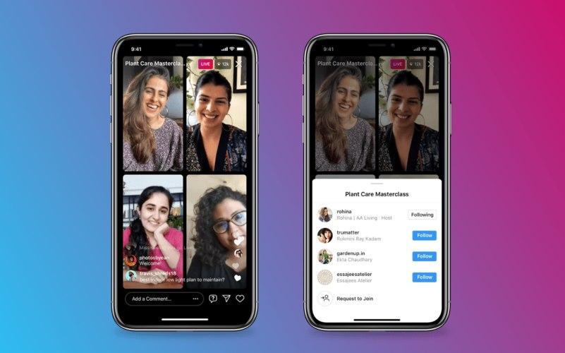 Live Rooms Instagram bisa dilakukan dengan tiga teman lain sekaligus. - Instagram