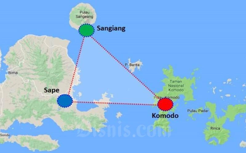 Segitiga emas Sangiang, Komodo, Sape sedang ditawarkan oleh Pemprov Nusa Tenggara Barat kepada para investor. Sejumlah insentif disediakan Pemprov NTB, - investasi/perizinan.ntbprov.go.id