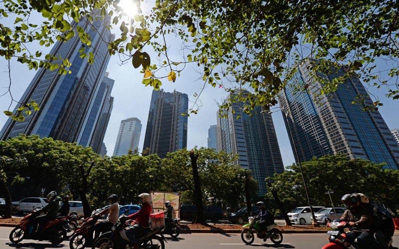 Ilustrasi - Wajah properti Jakarta. - Bloomberg