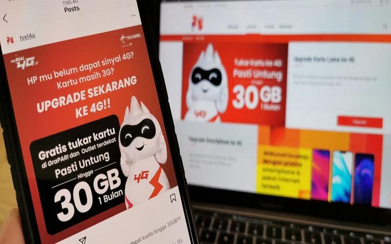 Pelanggan yang telah melakukan penggantian kartu dari non 4G ke kartu 4G, akan mendapatkan tambahan kuota 4G 30 GB untuk kartu yang masa aktif nya lebih dari 6 bulan serta penggunaan lebih dari Rp 100.000 - Istimewa