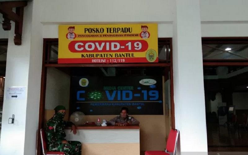 Posko Covid-19 Terpadu Bantul. - Antara