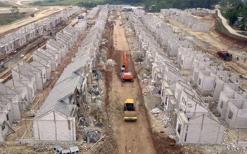 Pembangunan perumahan di Modernland Cilejit. - Istimewa