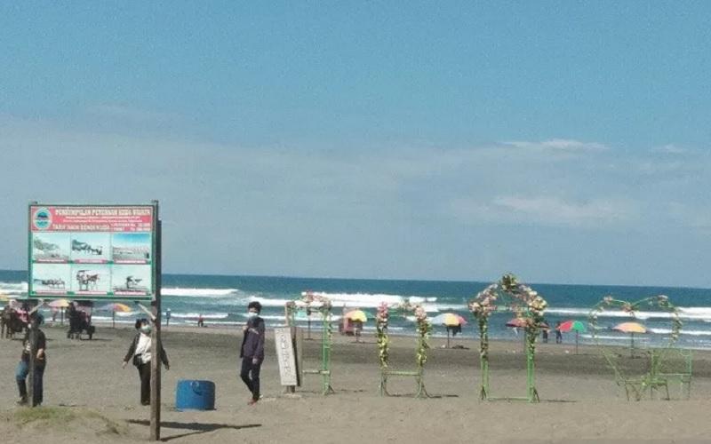 Objek wisata Pantai Parangtritis di Kabupaten Bantul, Daerah Istimewa Yogyakarta. - Antara