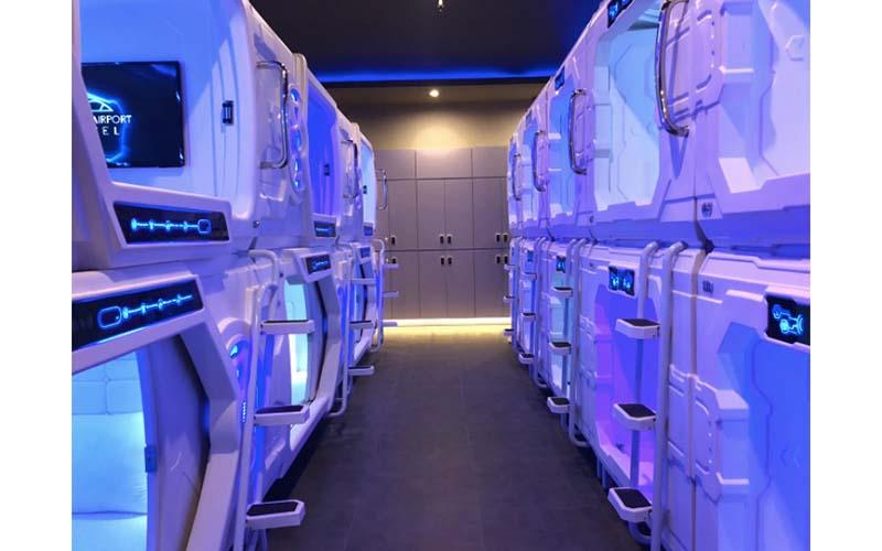 PT Capsule Indonesia memperkenalkan roombox, penginapan serupa hotel kapsul, tetapi dengan kapasitas lebih besar.  - Istimewa