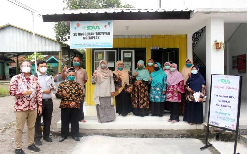 Kunjungan BPK dan Lazismu ke SD Unggulan Aisyiyah Ngemplak, Yogyakarta. - Istimewa