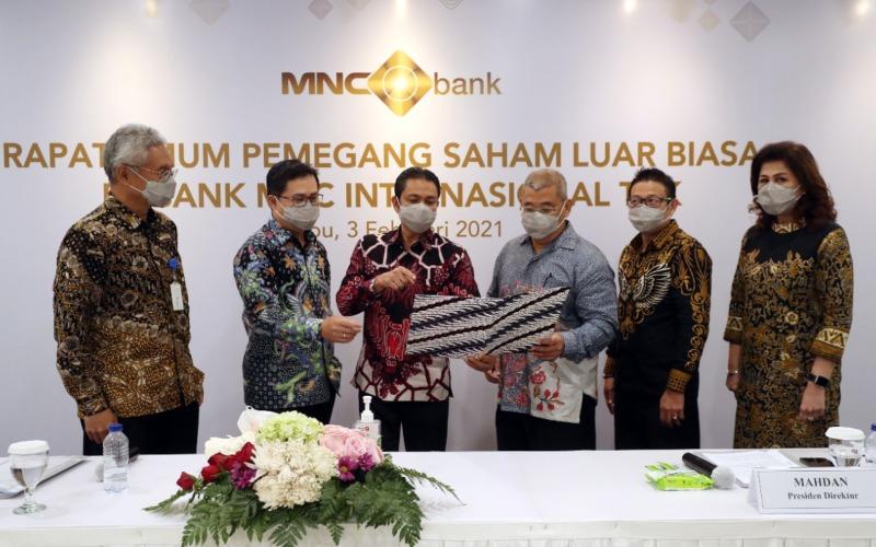 RUPSLB MNC Bank yang diselenggarakan di Jakarta, Rabu (3/2/2021) - Istimewa