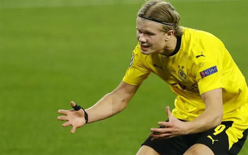 Ujung tombak Borussia Dortmund Erling Haaland./Antara - Reuters