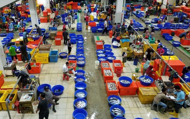 Situasi di Pasar Ikan Modern Muara Baru, Penjaringan, Jakarta Utara. -  Dok. Perum Perindo