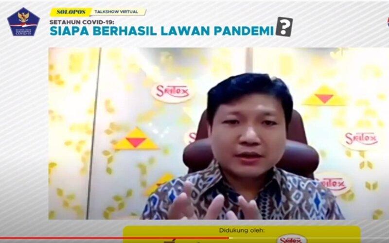 Iwan Setiawan Lukminto saat tampil dalam talkshow bareng Solopos. Selasa (9/3/2021). - Tangkapan layar Youtube SoloposTV