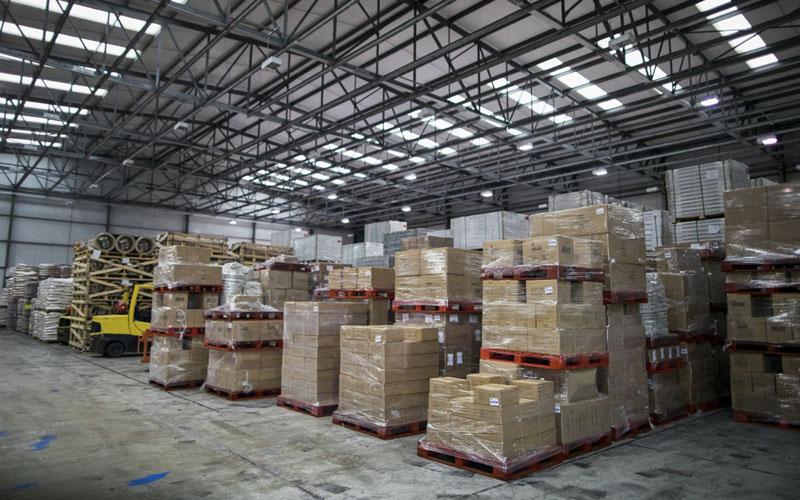 Ilustrasi real estat logistik./Bloomberg - Chris Ratcliffe