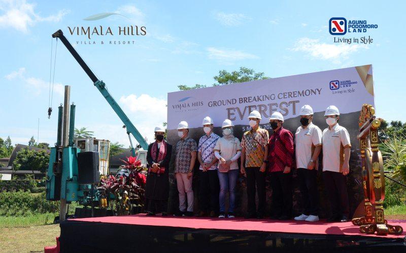 Seremoni pemancangan tiang perdana perumahan klaster Everest di kawasan Vimala Hills Villa & Resort di Gadog, Ciawi, Bogor, Jumat (5/3/2021). - Istimewa