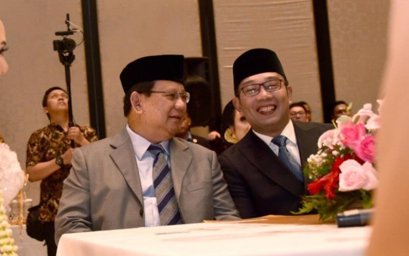 Prabowo Subianto bersama Ridwan Kamil - Istimewa