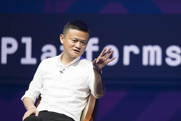 Pendiri Alibaba Jack Ma saat menjadi pembicara di sela-sela Pertemuan Tahunan IMF - World Bank Group 2018 di Bali Nusa Dua Convention Center, Nusa Dua, Bali, Jumat (12/10/2018). - Antara/M Agung Rajasa
