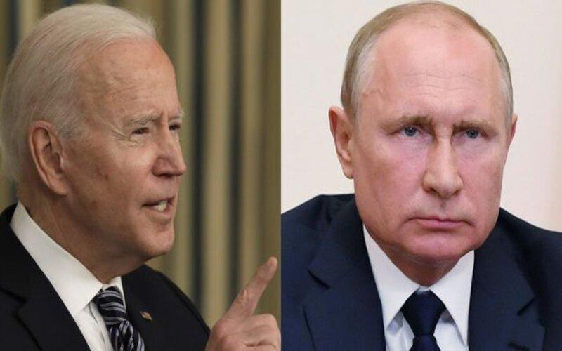 Kolase foto Presiden AS Joe Biden dan Presiden Rusia Vladimir Putin. - Bloomberg