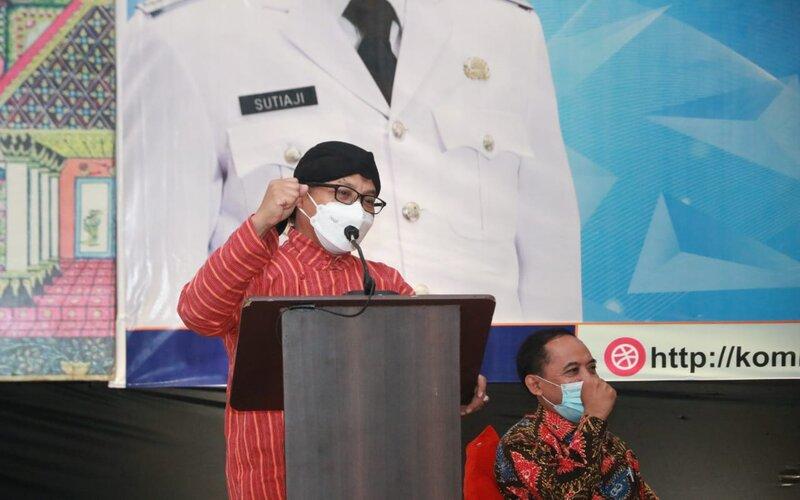 Wali Kota Malang Sutiaji dalam suatu acara di Batu, Kamis (18/3/2021). - Istimewa
