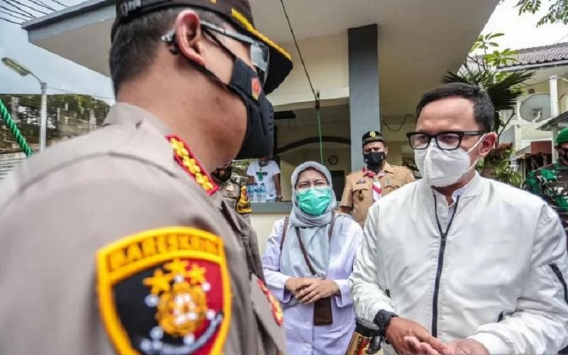 Wali Kota Bogor Bima Arya Sugiarto di Kota Bogor, Jawa Barat, Kamis (4/2/2021). - Antara\r\n
