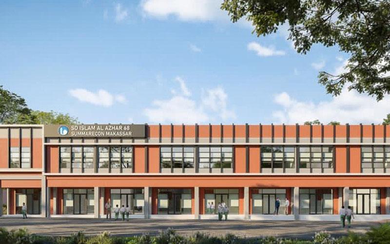Rencana pembangunan sekolah Al Azhar di Summarecon Makassar. - Istimewa