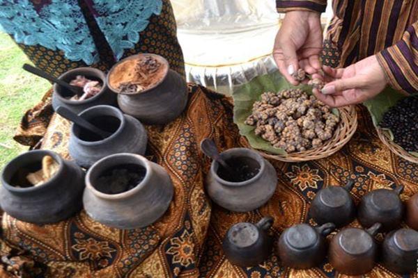 Ilustrasi - Biji kopi Luwak yang akan diracik - Antara