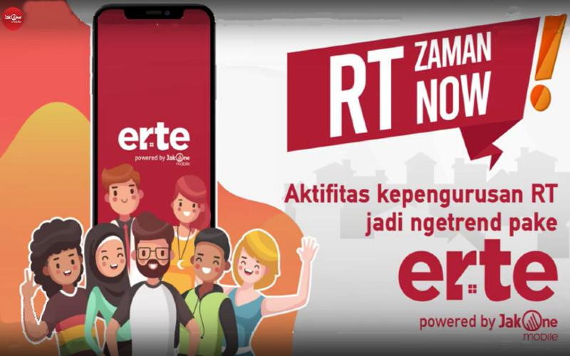 Tidak hanya pengurusan administrasi, JakOne Erte juga menyediakan fitur berita dan informasi kegiatan yang dapat dibagikan oleh warga.  - Youtube