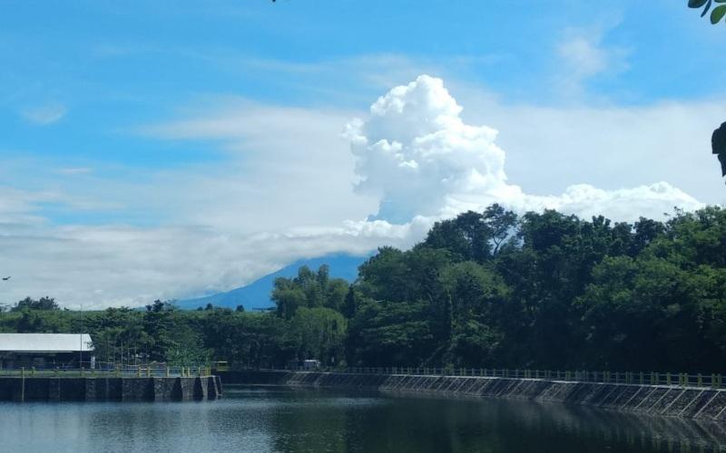 Gunung Merapi kembali luncurkan awan panas guguran (APG) sebanyak dua kali dengan maksimal jarak luncur hingga sejauh 1.500 meter mengarah ke barat daya pada Senin (22/3/2021) - BNPB/PGM Kaliurang