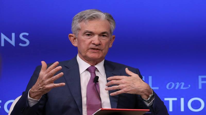 Gubernur Federal Reserve Jerome Powell berbicara di