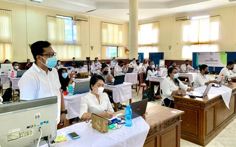 Peserta Diklat 3 in 1 yang diselenggarakan oleh Badan Pengembangan Sumber Daya Manusia Industri Kementerian Perindustrian dengan 7 BDI se-Indonesia, Rabu, (24/3/2021). - Istimewa