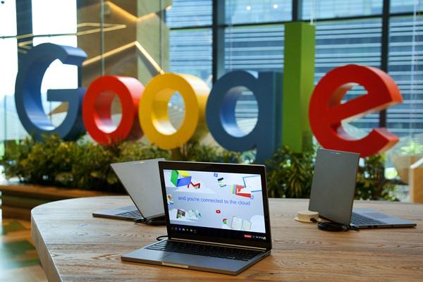 Logo Google. - Bloomberg/Ore Huiying