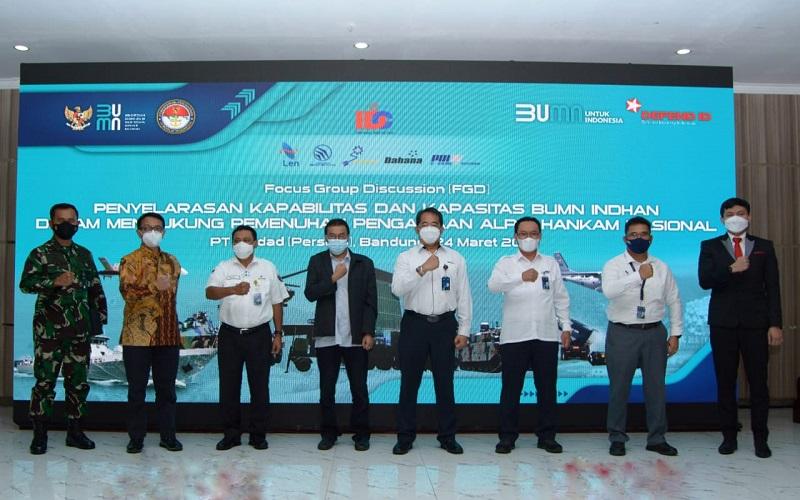 IDC Chapter 1 mengambil tema kapabilitas dan kapasitas BUMN Industri Pertahanan dalam mendukung pemenuhan pengadaan Alat Peralatan Pertahanan dan Keamanan (Alpalhanham) Nasional, yang digelar di Gedung Grha Pindad Bandung, Rabu (24/3 - 202).