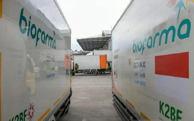 Armada distribusi vaksin PT Bio Farma. - Antara