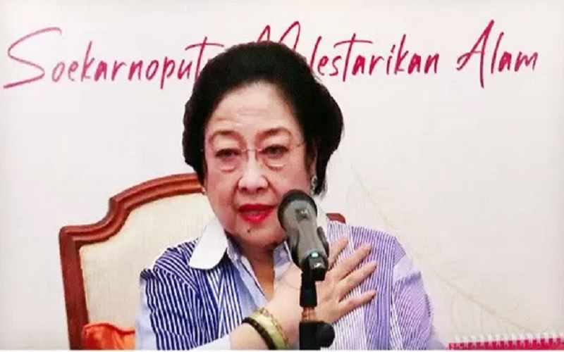 Ketua Umum DPP PDI Perjuangan Megawati Soekarnoputri saat peluncuran buku