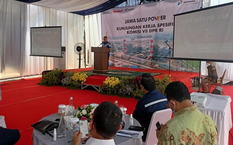 Paparan progres pembangunan PLTGU Jawa/1 Cilamaya Kabupaten Karawang