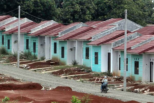 Pembangunan perumahan bersubsidi, di Bogor, Jawa Barat. - Bisnis.com/Nurul Hidayat