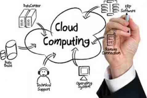 Ilustrasi cloud computing. - bisnis